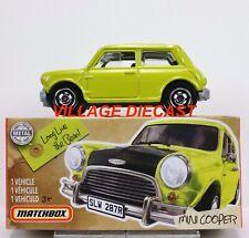 2020 Matchbox Power Grabs #30 '64 Austin Mini Cooper APPLE GREEN / MR. BEAN /MIB