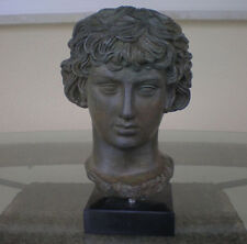Antinous Bust With Bronze Effect -Antinoos- Ancient Rome -Greece- Beautiful Item
