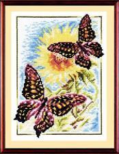 Counted cross stitch kit Admiral Sunflowers Butterflies by Golden Fleece