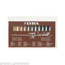 LYRA Polycrayons Set of 12 Pastell Pastels Crayon Draw Brown Pastels Skin Tones