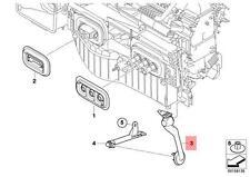 Genuine BMW E70 E70N E71 Upper Left Condensation Water Hose OEM 64119288173