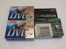 Mini DV Video Cassettes Lot of 3 JVC Fujifilm New Sealed