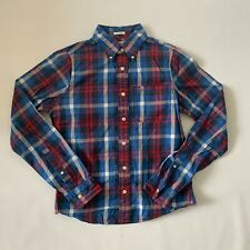 Abercrombie & Fitch Blue & Red Plaid Long Sleeve, Sz S Small, Men's Flannel