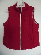 Ann Taylor Loft fleece lined Red zip front vest size S