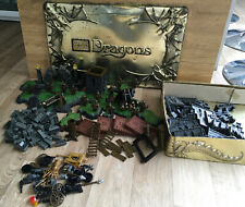 Mega Bloks Dragons Keep Tin & Contents not complete ~ See Photos