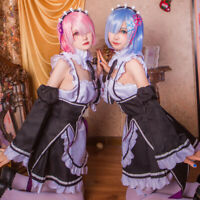 Animer Cosplay Costume Ram/Rem Sets Superior Quality Anime Convention Maid D Hs