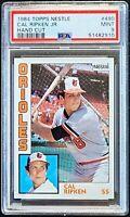 1984 Topps Nestle Hand Cut #490 Cal Ripken Jr PSA 9 Mint Orioles Baseball HOF