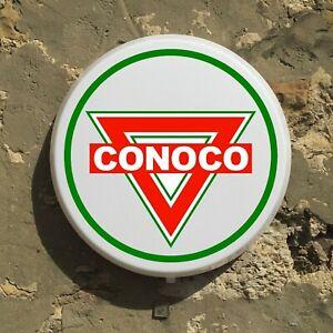 Conoco LED Signe Mural Lumière Boîte Garage Huile Vintage Petroliana Automobilia
