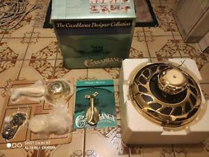 Vintage Casablanca genesis bright  Brass Ceiling Fan motor.  No blades.