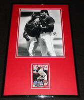 Mo Vaughn Signed Framed 11x17 Photo Display Red Sox w/ Jose Canseco
