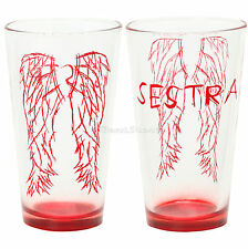 ONE SESTRA (SISTER) WINGS HELENA SARAH ORPHAN BLACK 16 OUNCE Pint Glass Boxed