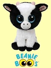 "Ty® 6"" Butter Beanie Boo's® Small Sparkly Eyes Cow - FROM OUR FARMLAND STOCK"
