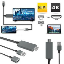 USB Mirroring Cable Phone to HDMI 1080P TV Cable Adapter For iPhone Samsung iPad
