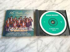 Banda Machos CD 16 Reales Hits Vol 2 ORIGINAL 1998 WARNER RARO Quebradita Exitos