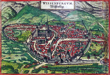 Reproduction plan ancien - Wissembourg vers 1575