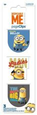DESPICABLE ME - MAGNETIC PAGE CLIPS - BRAND NEW - BOOK READING BOOKMARK 4629