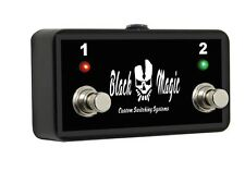 Black Magic Custom 2 Button Footswitch Replacement for Vox VFS-2A