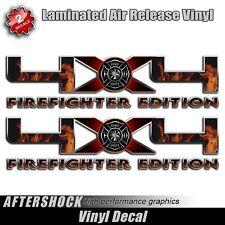 Firefighter Truck 4x4 Decal Flames Fireman Sticker for F-150 Truck