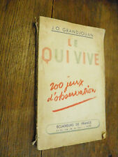 Le qui vive 200 jeux d'observation / GrandJouan / éclaireurs de France 1942