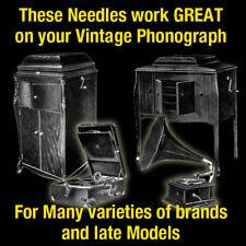 300 Medium Gramophone Phonograph Needles Victor Sonora HMV Chamberlain Brand USA