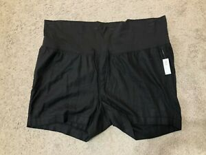 NEW! Old Navy Maternity Women's Casual Black Shorts Full Belly Band Size XXL 2XL