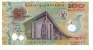 PAPUA NEW GUINEA 100 Kina POLYMER COMMEMORATIVE VF Banknote 2013 P-46 Prefix CP