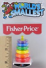 World's Smallest Fisher-Price ROCK-A-STACK Toy Miniature Doll Mini Rings NEW FP