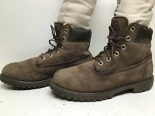 VTG MENS TIMBERLAND WORK SUEDE BROWN BOOTS SIZE 6
