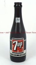 Rare 1950s 7up Amber Brown 7oz ACL Longneck Bottle Fergus Falls Minnesota