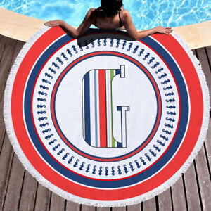 Monogram beach towel Round terry toilet microfiber cloth towel 150cm