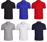 Men's Polo Shirt Plain T Shirt Blank Short Sleeve Shirt Lot Multipack