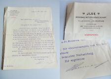 Gottlob Schumann (1860-1929), Generaldirektor ILSE BERGBAU AG: Sign. Brief 1913