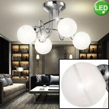 Design LED Decken Energie Spar Leuchte Esszimmer Lampe Chrom Glas Kugel Spots