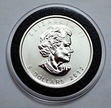 2012 Canadian  Maple Leaf .9999 Silver Bullion Coin, $5 Dollars