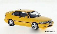 SAAB 9-3 Viggen, giallo, 1998-Ixo Premium x 1:43