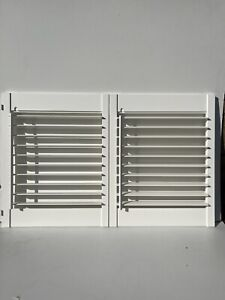 Pair Of White Plantation Window Shutters Inter Connecting BRAND NEW