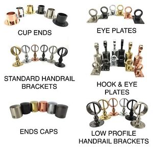 Decking Rope Fittings Cup Ends, Hooks, Eye Plates, End Caps, Handrail Brackets