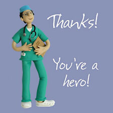 Doctor You're A Hero NHS Hospital Blank Thank You Card