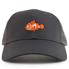 Youth Kid's Clown Fish Patch Youth 6 Panel Trucker Baseball Cap - FREE SHIPPING