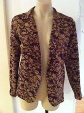 Ladies Purple & Gold Summer Jacket Size XS 8-10 COTTON ON