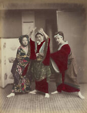 Vintage Dancing Party Japanese Women Far East 6x5 Inch Reprint Photo