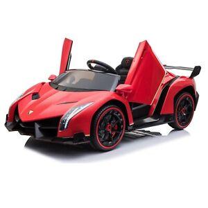 Licensed Lamborghini Veneno ride on car toy for kids - Red- Pre Order ETA 8th No