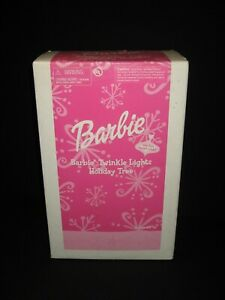 Avon Barbie Twinkle Lights Pink Holiday Christmas Tree Fiber Optic Ornaments CB
