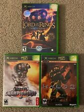 Xbox 3 Game Bundle. Unreal Championship, Halo 2, Lord Of The Rings. Tested.