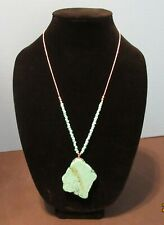 Large Solitary Stone Kingsman Turquoise Sterling Silver Necklace