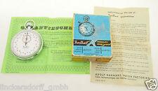HANHART STOPUHR / STOPPUHR / STOPWATCH - 1/10 SEC & 15 MIN - 1970 - BOX & ZERT