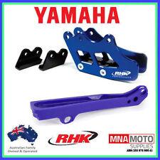 Yamaha WR450F 07 - 16 RTECH Chain Slider & RHK Rear Chain Guide Blue