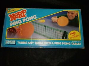 Vintage Official Nerf Ping Pong Table Tennis Parker Brothers Game 1987 Complete