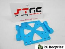 STRC Tamiya CR01 Machined Aluminum Center Skid Plate (Blue) STT95887B Scale CR-0