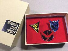 3 pcs set Pokemon Go Teams Mystic Valor Instinct Badges Metal Pin Brooth in box